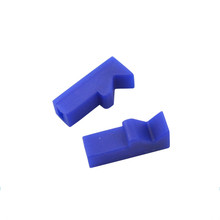 Custom Molded Color PU Silicone EPDM NBR FKM Rubber Clip Parts