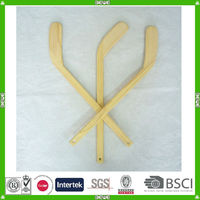 China make promotional quality gift wood player hockey stick plant with customized logo