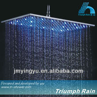 JFQ046CP top luxury easy installation led shower head