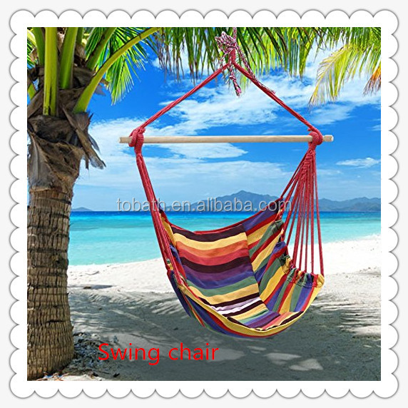 Hammock Chair Hanging Rope Chair Porch Swing Outdoor Chairs Lounge Camp Seat At Patio Lawn Gard