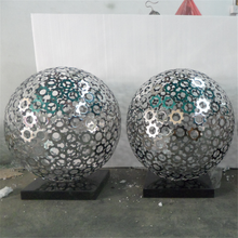 Outdoor garden Metal 304# Stainless Steel Globe art metal Sculpture