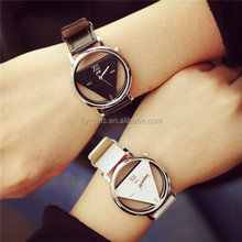 style fashion triangle watch many colors stock hollow out watch