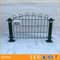 coated decorative border green garden wire mesh fence edging