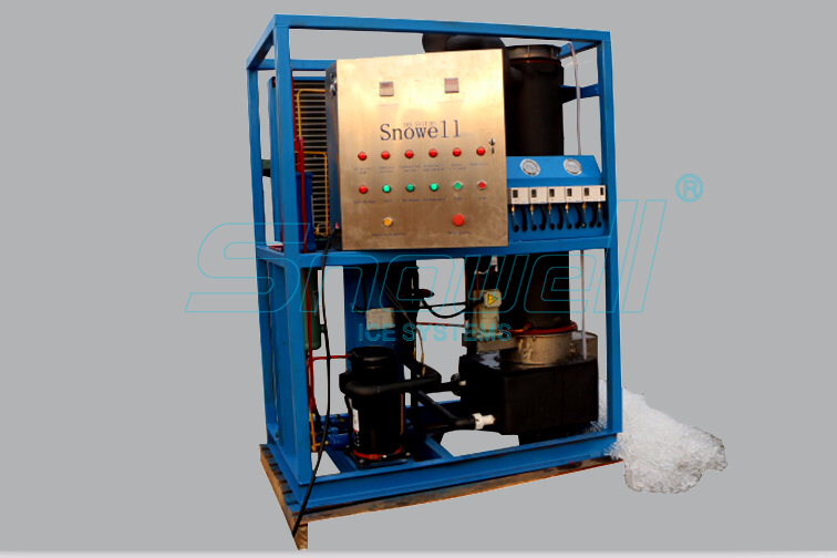2TPD Easy Operation Cube/Tube Ice Making Machine for Cooling Drinks&Seafood Preservation