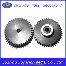 Customized OEM high precision black POM+12L14 flat gears