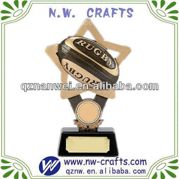 Football trophy award resin crafts idea