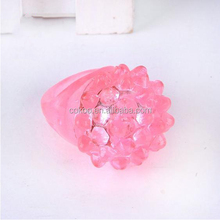 100pcs New LED Color Change Flashing Soft Rose flower Ring Wedding Fancy Halloween Party Disco Children Kid finger toys