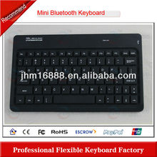 7 inch silicone rubber folding wireless bluetooth keyboard
