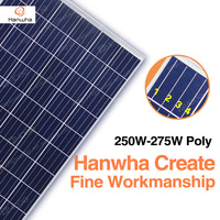 Hanwha A grade poly 250w 255w 260w 265w 270w 275w solar panel,250 w pv modules with good price