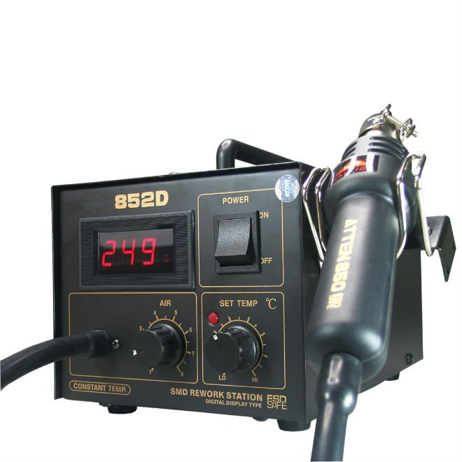 852D Solder station Multifunction SMD/SMT rework station, hot air gun soldering iron DC power supply 3 in 1