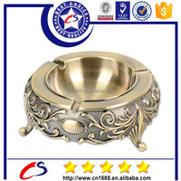 Personalized custom shape antique brass 3D cigar ashtray