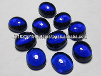 10x12 mm Oval - Gorgeous Kashmir Sapphire Blue Colour - Quartz - eye Clean Cabochon 10 pcs