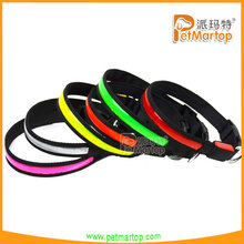 2015 new pet products flashing pvc leather dog collar TZ-PET1038 durable pet collar