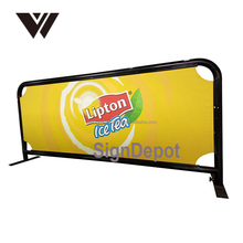 WELDON Hot Sale Cafe Breeze Barriers /Wind/advertising barrier with banner for Advertising