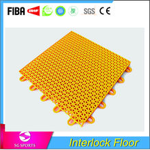 pp plastic concrete interlocking floor tiles for basketball court/tennis courts/volleeeyball courts
