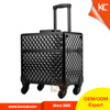 professional aluminum rolling beauty case ,trolley beauty case on wheels