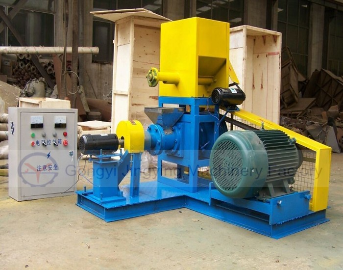 Animal feed pellet make machine/Pelleted floating fish feed extruding machine