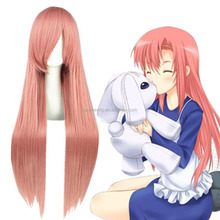 Hot sales Pandora Hearts Lottie anime cosplay wig 80cm long straight pink synthetic cosplay wig women party wig