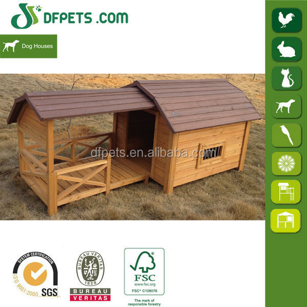 DFPets DFD3012 Large Dog House And Run