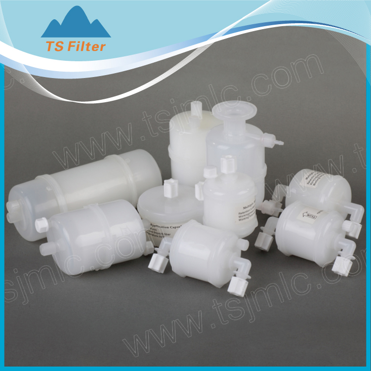 2.5inch 5inch PES/ PVDF/ PTFE membranes micro capsule filter for Inkjet and printer filtration