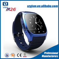 Hot New M26 Bluetooth touch screen Smart Watch phone 2016 with Dial SMS Remind Pedometer for Android Samsung xiaomi phone