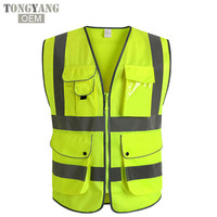 TONGYANG NEW Unisex High Visibility Reflective Multi Pockets Construction Safety Vest Working Clothes Outdoor Safety Clothing