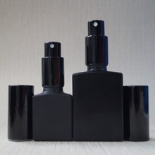 rectangle black frosted glass dropper bottle 15ml 30ml for perfume