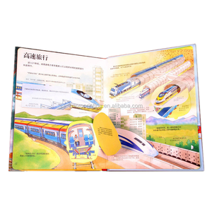 Full color hardback book CMYK designed top quality custom coloring pop up comic book printing for children