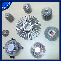 6000 series profile aluminiu extruded plastic profile extruder radial heatsink