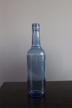 WHOLESALE 750ML CLEAR BEER GLASS BLUE BOTTLES