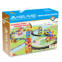 3D Assemble Magnetic Track Toys 106 pcs for Preschool Educational Puzzles