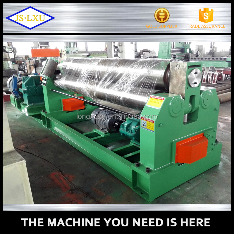 3 roller sheet metal bending rolling machine with cone roll capbility