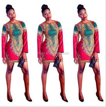 L0625A Fashion African print style dress patterns dashiki african dresses clothing