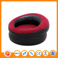 High Quality Cheap PVC Red and Black Color design Inflatable cheserfield sofa for one person