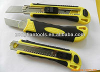 18mm cutter auto lock utility knife,easy cut safety utility knife