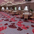 printed wall to wall carpet floral for ballroom