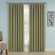 100% polyester pinch pleat office blackout curtain