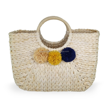 Natural Maize Leaf Corn husk Straw Beach tote bag
