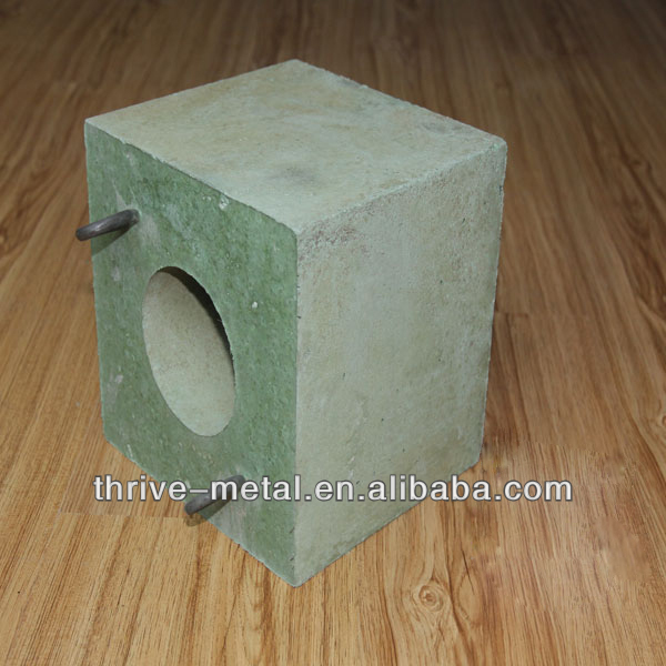 Ladle Permeable Well Block of chrome corundum and corundum spinel