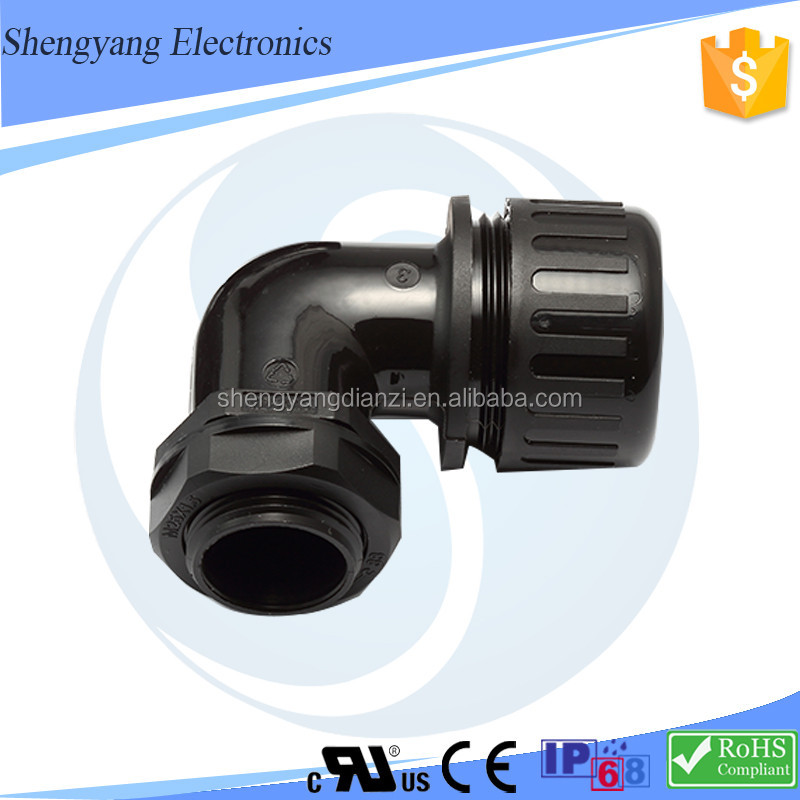 "Factory Price corrugated pipe Joint 2"" elbow waterproof hose nipple"