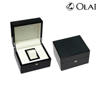 Personalized Glossy Watch Box Wood Lacquer