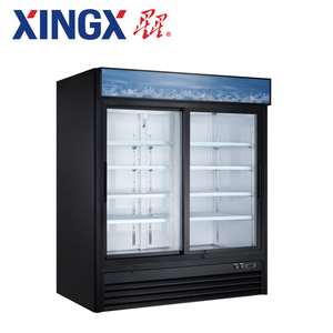 2 glass door commercial refrigerator, bottle display showcase_G1.2YBM2F-HC