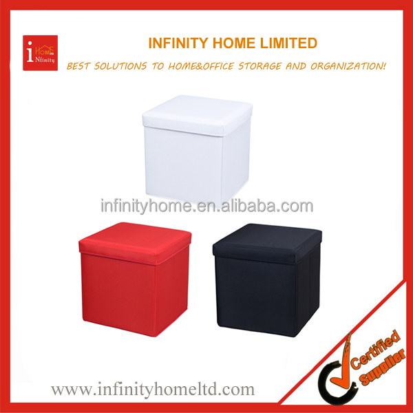 High Quality Durable Polyester Fancy Stool Ottoman