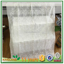 Classic style sheer embroidery curtains with continous flower