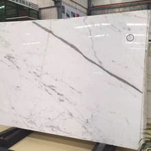 high quality statuario white marble floor and wall tiles for lobby