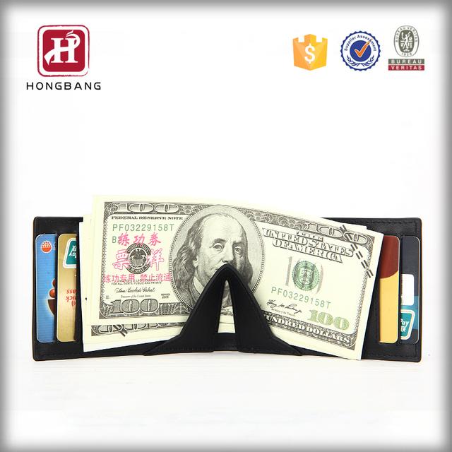 New Design Slim Rfid Wallet Leather Wallet