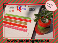 Colorful Japanese Custom Printed Washi Masking Tape with water adhesive glue for Christmas WT-90