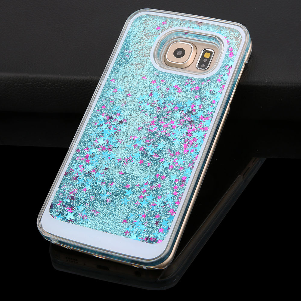 liquid glitter smart phone case for samsung Note3