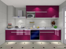 Luxury high end PVC kitchen cabinets modern kitchen furniture made in China