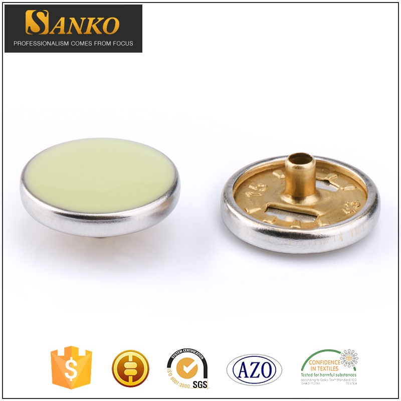 Custom Made Plastic Pearl Enamel Metal Spring Snap Button For Garments